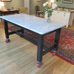 Farmhouse Table with Carerra Top