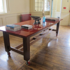 Red Lacquered Table